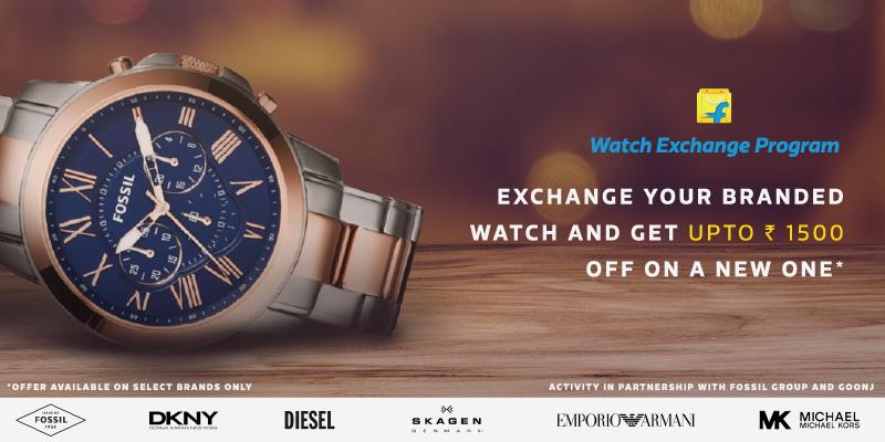 Flipkart Watch Exchange - Exchange your branded watch