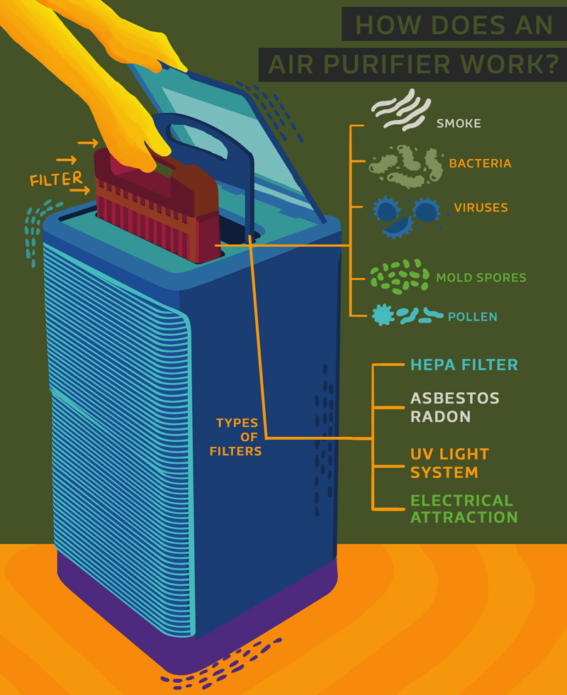How Air Purifiers Work - Infographic