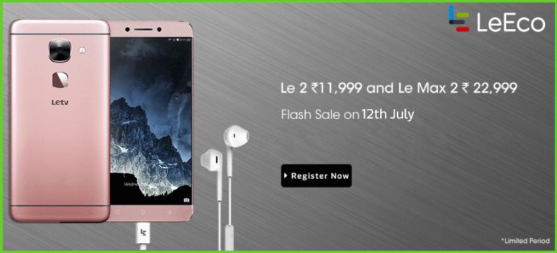 LeEco Le2 Flash Sale July 12