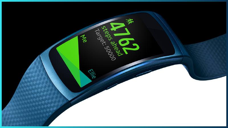 Samsung Gear Fit2 - curvy design