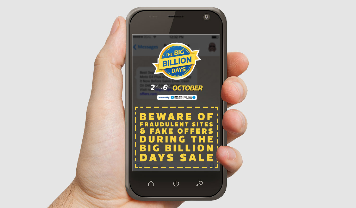 Beware of fraudulent sites and fake offers misusing Flipkart's name