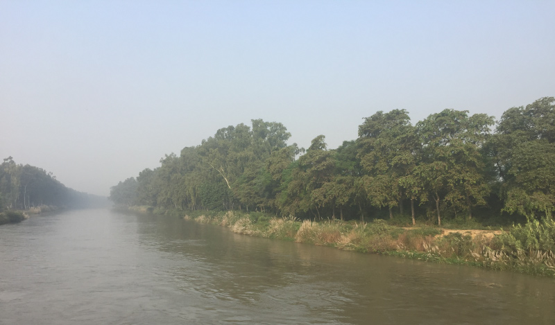 The Sutlej river near Makhu