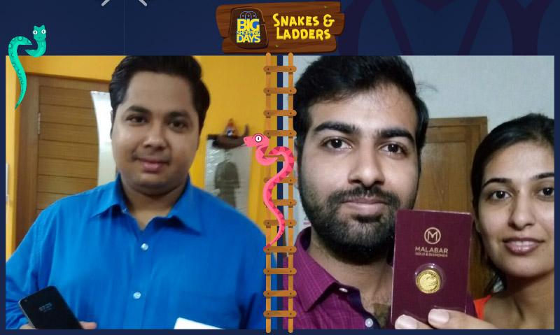 Flipkart Snakes & Ladders winners Pritam Bhattarcharjee (L) and Sarfaraz Raj (R)
