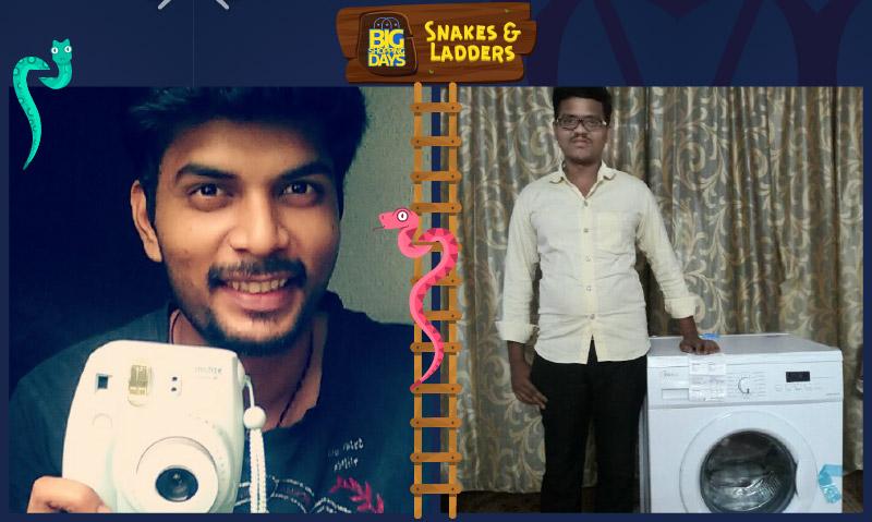 Flipkart Snakes & Ladders winners Ankur Chheda and Balaram Kumar