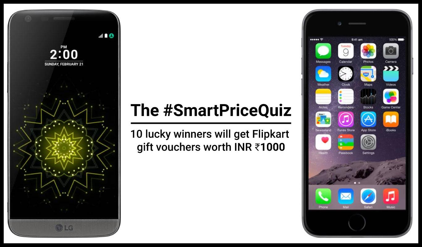 The Flipkart #SmartPriceQuiz on premium smartphones