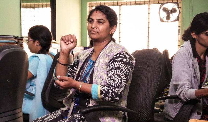 Yashoda is one of the employees at Vindhya