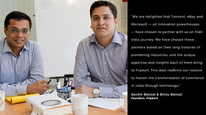 Flipkart eBay Tencent Microsoft