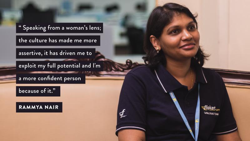 #WomenOfFlipkart Rammya Nair
