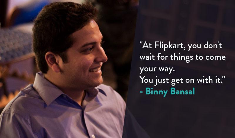 Binny Bansal on Vinoth Poovalingam