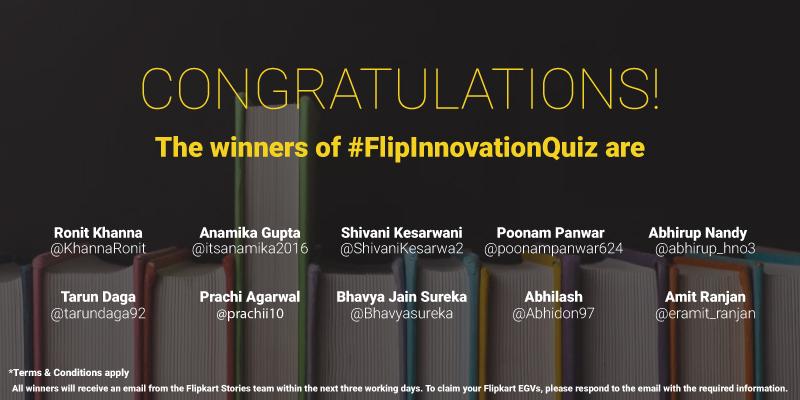 Flipkart Innovation Contest