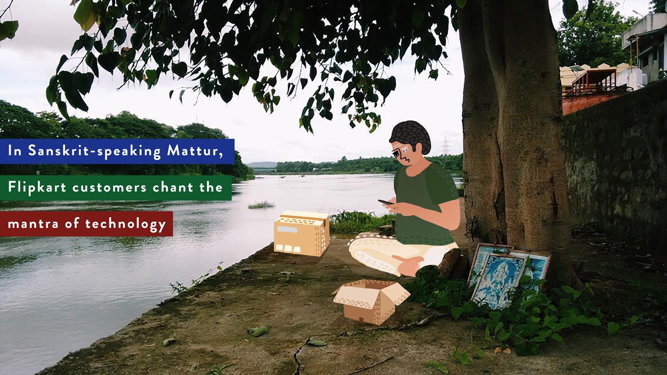 In Sanskrit-speaking Mattur, Flipkart customers chant the mantra of technology