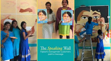 The Speaking Wall - Flipkart's transgender customers paint a message