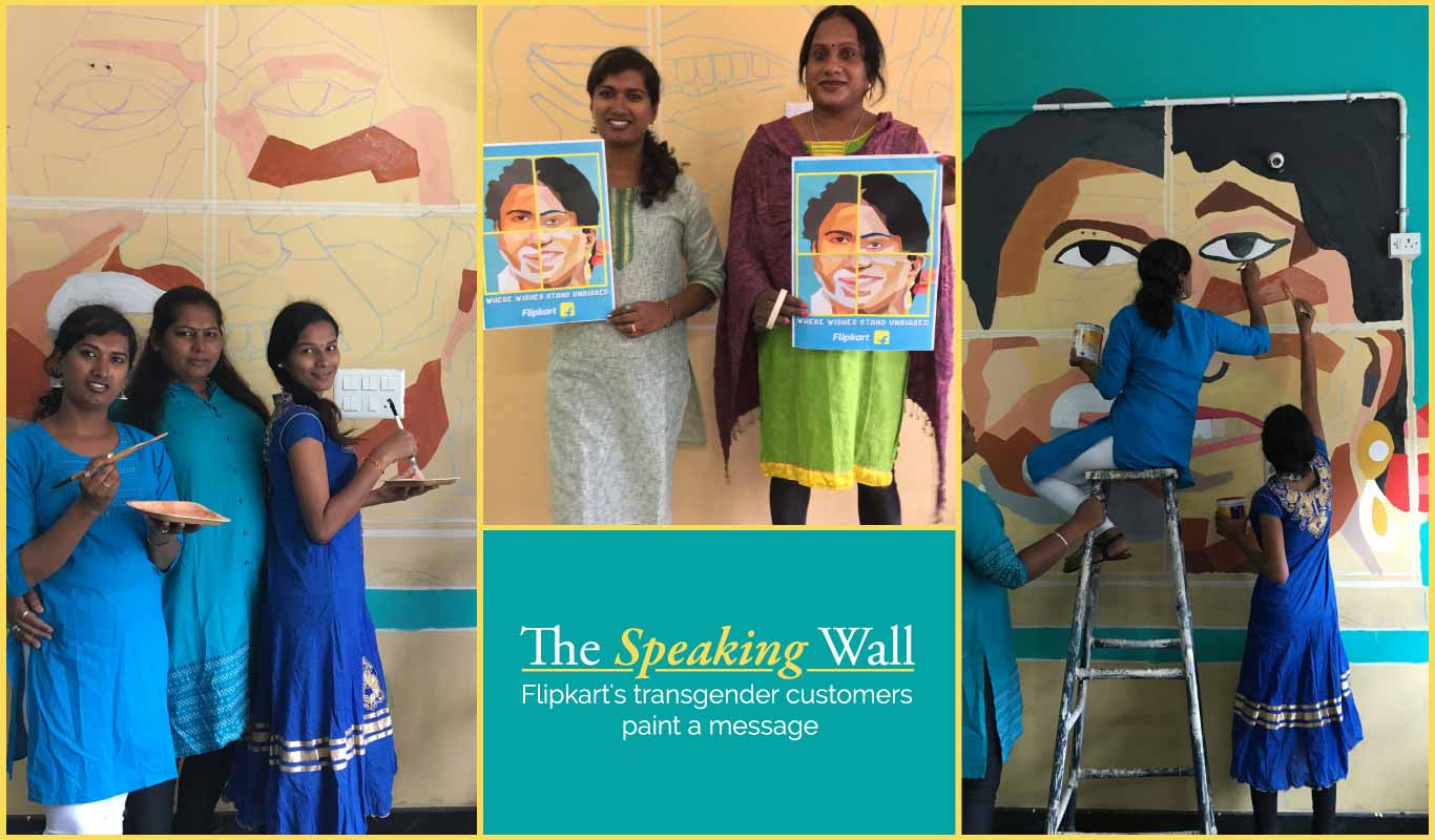 The Speaking Wall – Flipkart's transgender customers paint a message